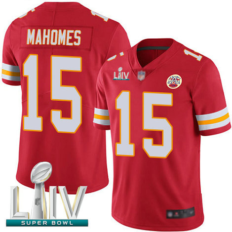 Chiefs #15 Patrick Mahomes Red Team Color Super Bowl LIV Bound Youth Stitched Football Vapor Untouchable Limited Jersey