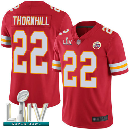 Chiefs #22 Juan Thornhill Red Team Color Super Bowl LIV Bound Men's Stitched Football Vapor Untouchable Limited Jersey