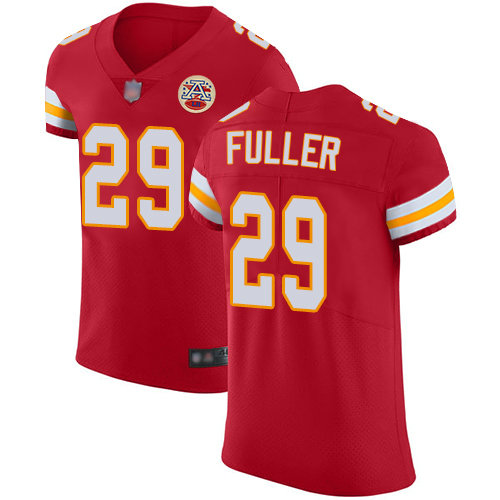 Chiefs #29 Kendall Fuller Red Team Color Men's Stitched Football Vapor Untouchable Elite Jersey