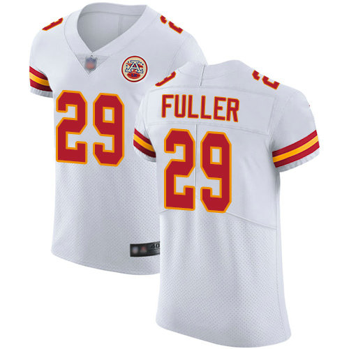 Chiefs #29 Kendall Fuller White Men's Stitched Football Vapor Untouchable Elite Jersey