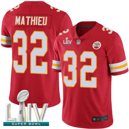 Chiefs #32 Tyrann Mathieu Red Team Color Super Bowl LIV Bound Men's Stitched Football Vapor Untouchable Limited Jersey