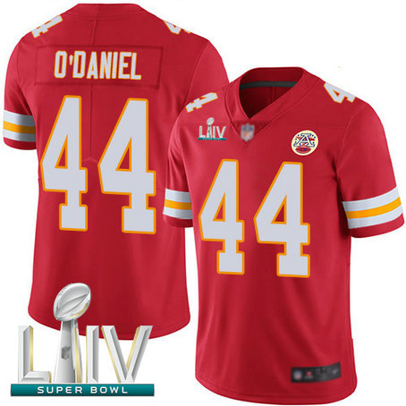 Chiefs #44 Dorian O'Daniel Red Team Color Super Bowl LIV Bound Men's Stitched Football Vapor Untouchable Limited Jersey