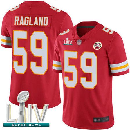 Chiefs #59 Reggie Ragland Red Team Color Super Bowl LIV Bound Men's Stitched Football Vapor Untouchable Limited Jersey