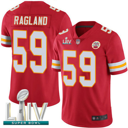 Chiefs #59 Reggie Ragland Red Team Color Super Bowl LIV Bound Youth Stitched Football Vapor Untouchable Limited Jersey
