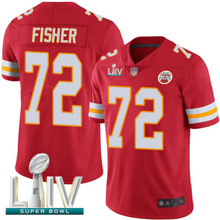 Chiefs #72 Eric Fisher Red Team Color Super Bowl LIV Bound Youth Stitched Football Vapor Untouchable Limited Jersey