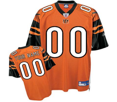 Cincinnati Bengals Customized orange Alternate Jerseys