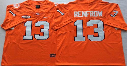 Clemson Tigers 13 Hunter Renfrow Orange Nike College Football Jersey