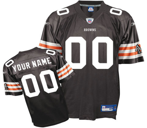 Cleveland Browns Customized Team Color Jerseys