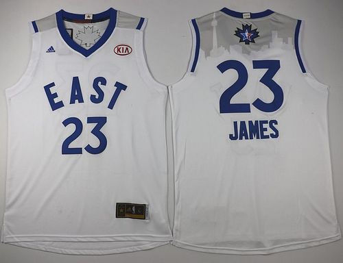 Cleveland Cavaliers 23 LeBron James White 2016 All Star NBA Jersey