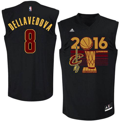 Cleveland Cavaliers 8 DELLAVEDOVA Black 2016 NBA Finals Champions Jerseys-016