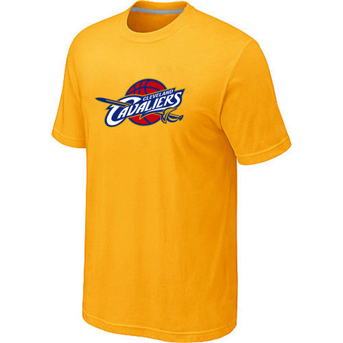 Cleveland Cavaliers Big Tall Primary Logo Yellow T Shirt