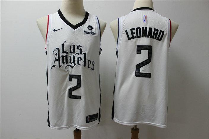 Clippers 2 Kawhi Leonard White City Edition Nike Swingman Jersey