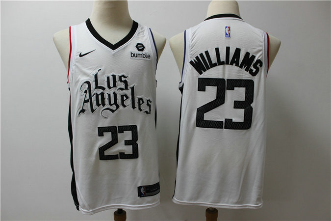 Clippers 23 Lou Williams White City Edition Nike Swingman Jersey