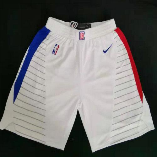 Clippers White Swingman Shorts
