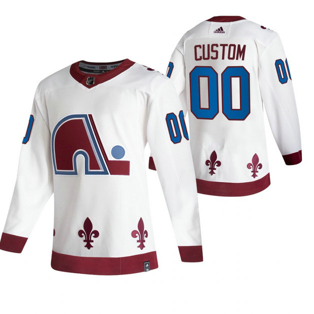 Colorado Avalanche Custom White Men's Adidas 2020-21 Alternate Authentic Player NHL Jersey
