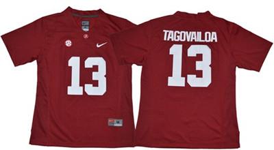 Crimson Tide #13 Tua Tagovailoa Red Limited Women's Stitched NCAA Jersey
