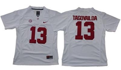 Crimson Tide #13 Tua Tagovailoa White Limited Women's Stitched NCAA Jersey