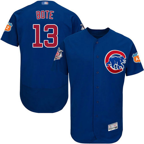 Cubs #13 David Bote Blue Flexbase Authentic Collection Stitched Baseball Jersey
