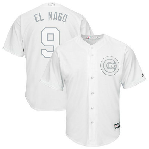 Cubs 9 Javier Baez El Mago White 2019 Players' Weekend Player Jersey