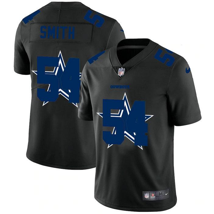 Dallas Cowboys #54 Jaylon Smith Men's Nike Team Logo Dual Overlap Limited NFL Jersey Black