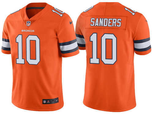 Denver Broncos 10 Emmanuel Sanders Orange Color Rush Limited Jersey