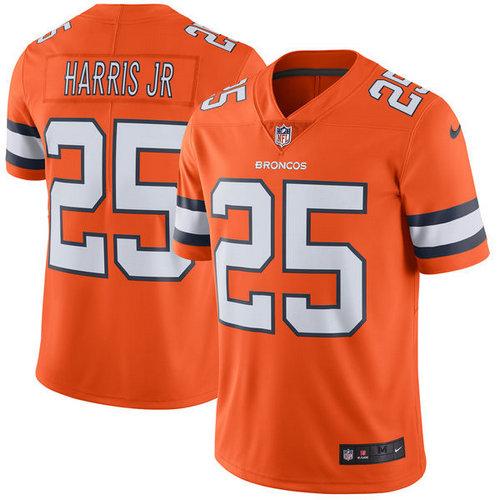 Denver Broncos 25 Chris Harris Jr Nike Orange Color Rush Limited Jersey