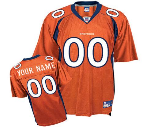 Denver Broncos Customized orange Alternate Jerseys