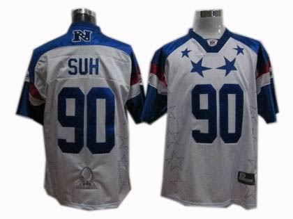 Detroit Lions #90 Ndamukong Suh 2011 Pro Bowl NFC Jersey