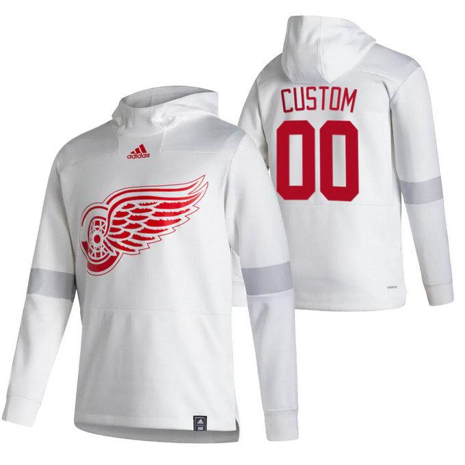 Detroit Red Wings Custom Adidas Reverse Retro Pullover Hoodie White