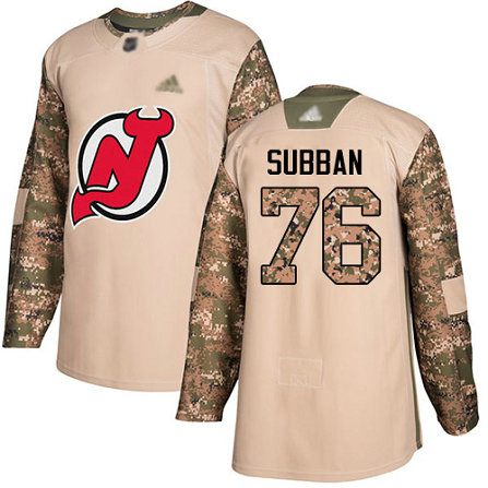 Devils #76 P. K. Subban Camo Authentic 2017 Veterans Day Stitched Youth Hockey Jersey