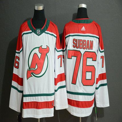Devils 76 P.K. Subban White Adidas Jersey