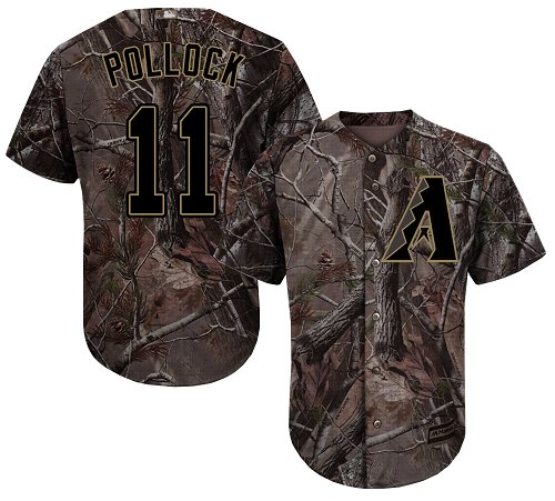 Diamondbacks #11 A. J. Pollock Camo Realtree Collection Cool Base Stitched Youth Baseball Jersey