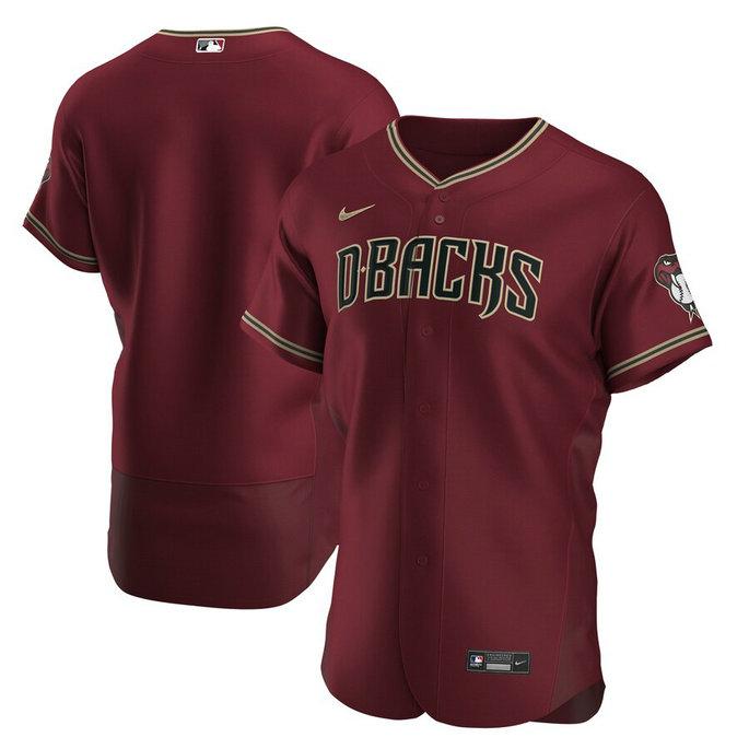 Diamondbacks Blank Red Nike 2020 Flexbase Jersey