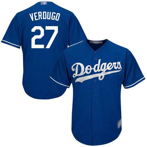 Dodgers #27 Alex Verdugo Blue Cool Base Stitched Youth Baseball Jersey