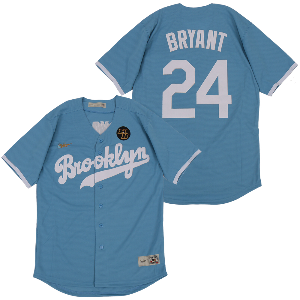 Dodgers 24 Kobe Bryant Light Blue 2020 Nike Cooperstown Collection Jersey