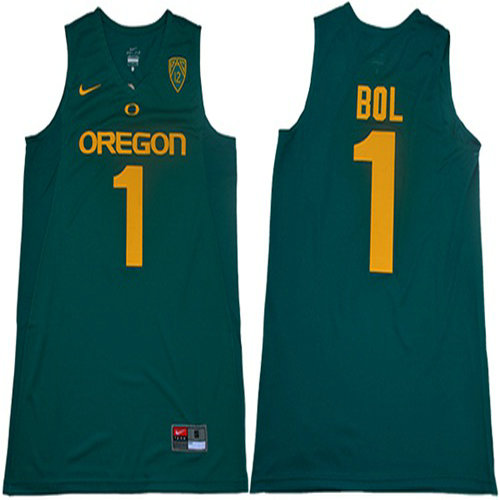 Ducks #1 Bol Bol Dark Green Limited Stitched College Jersey