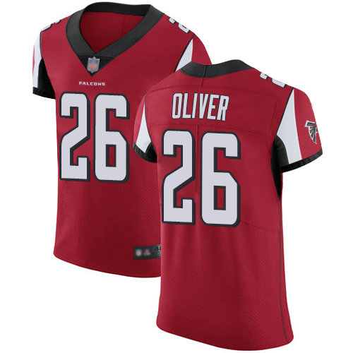 Falcons #26 Isaiah Oliver Red Team Color Men's Stitched Football Vapor Untouchable Elite Jersey