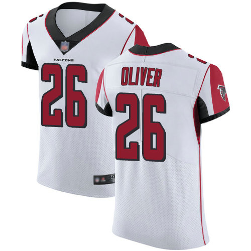 Falcons #26 Isaiah Oliver White Men's Stitched Football Vapor Untouchable Elite Jersey