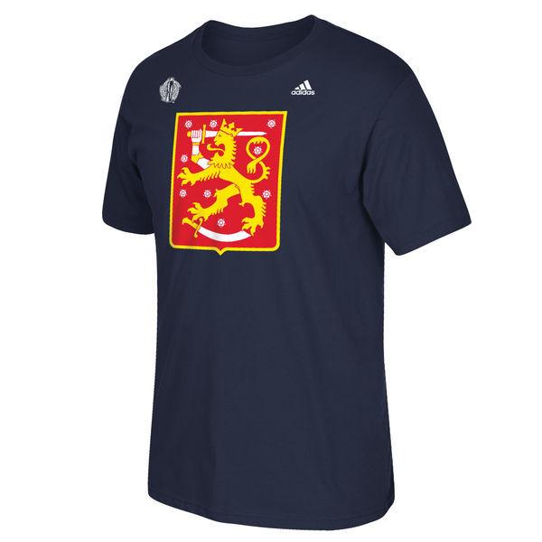 Finland Hockey 2016 World Cup of Hockey Primary Logo T-Shirt - Navy