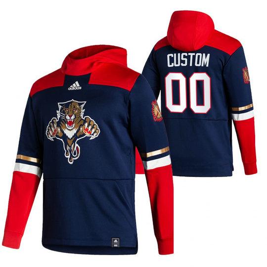 Florida Panthers Custom Adidas Reverse Retro Pullover Hoodie Navy
