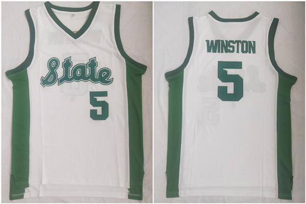 Florida State Seminoles 5 Jameis Winston White College Jersey