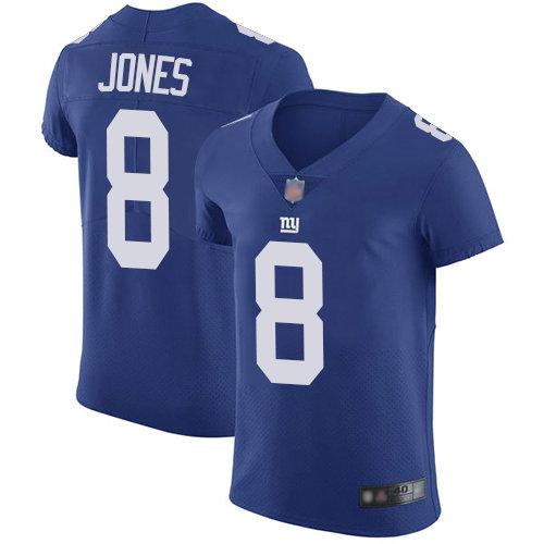 Giants #8 Daniel Jones Royal Blue Team Color Men's Stitched Football Vapor Untouchable Elite Jersey