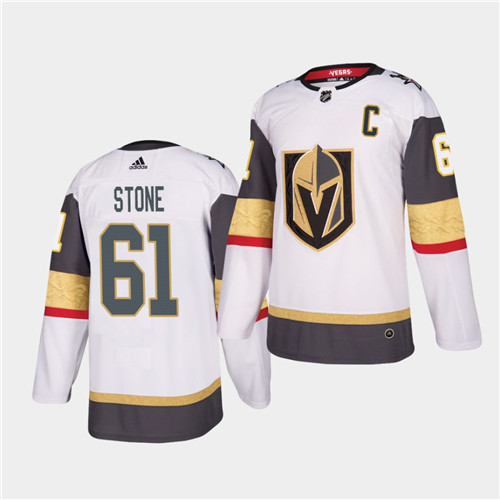 Golden Knights #61 Mark Stone 2021 Captain White Jersey