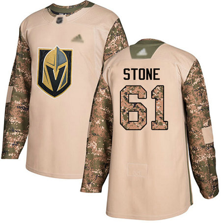 Golden Knights #61 Mark Stone Camo Authentic 2017 Veterans Day Stitched Youth Hockey Jersey