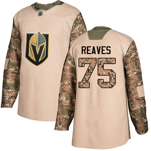 Golden Knights #75 Ryan Reaves Camo Authentic 2017 Veterans Day Stitched Youth Hockey Jersey