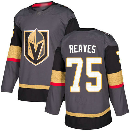 Golden Knights #75 Ryan Reaves Grey Home Authentic Stitched Youth Hockey Jersey