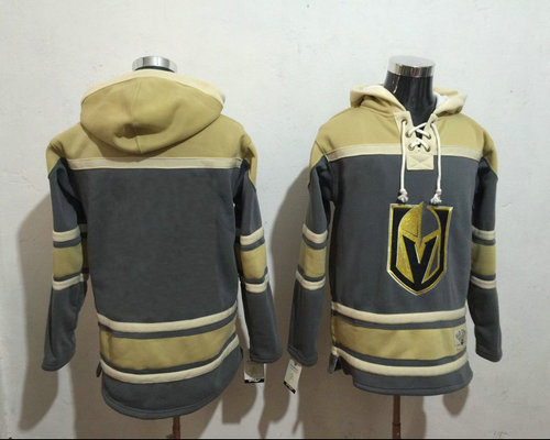 Golden Knights Blank Marc Andre Fleury Grey Gold Name Number Pullover NHL Hoodie