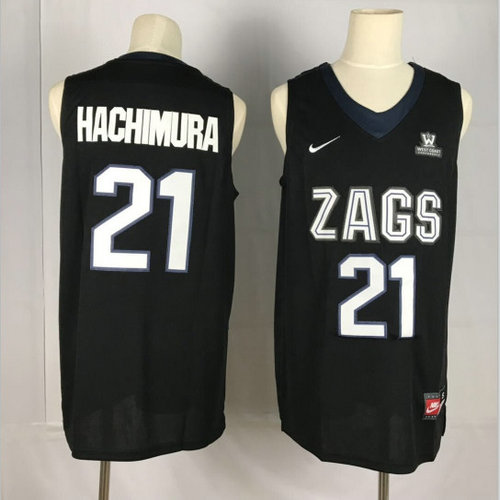 Gonzaga Bulldogs 21 Rui Hachimura Black College Basketball Jersey