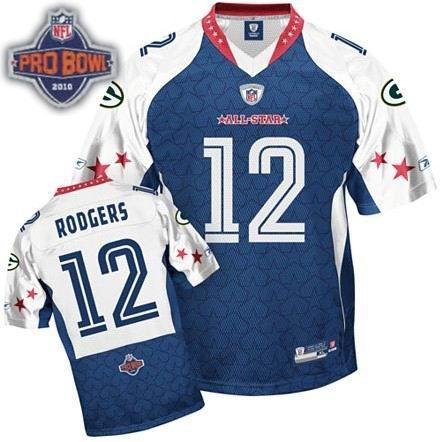 Green Bay Packers #12 Aaron Rodgers 2010 Pro Bowl NFC