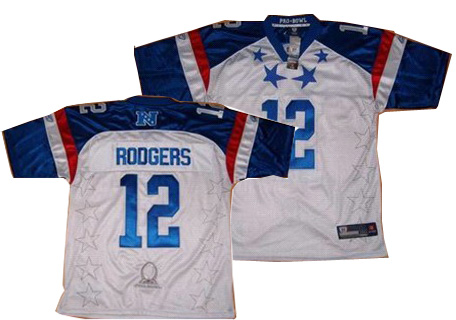 Green Bay Packers #12 Aaron Rodgers white 2012 Pro Bowl NFC Jersey